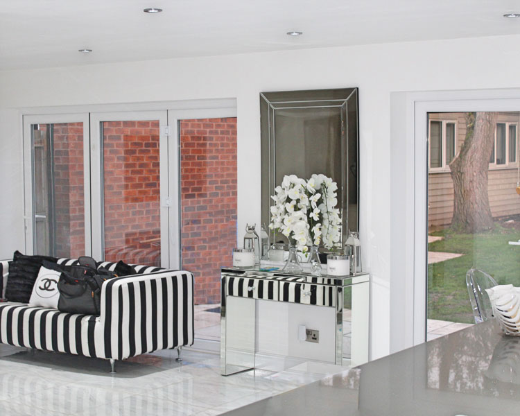 Interior of extension Cardinal Close Edgbaston showing kitchen/dining exension