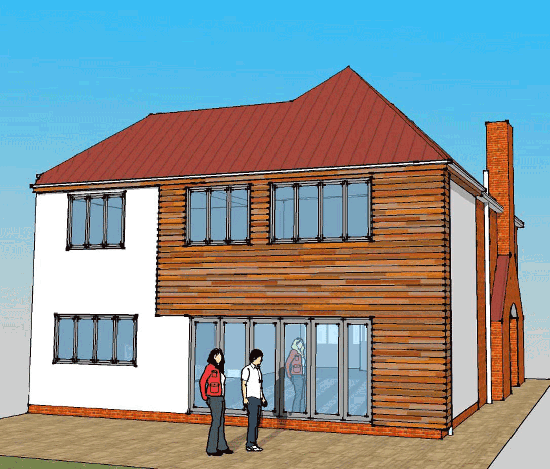 Plans for house with cedar wood cladding Solihull