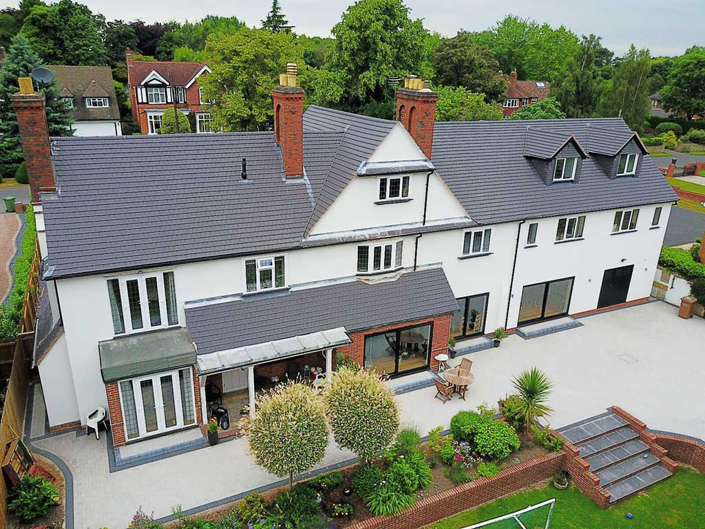 Rear view of extension Lovelace Avenue Solihull