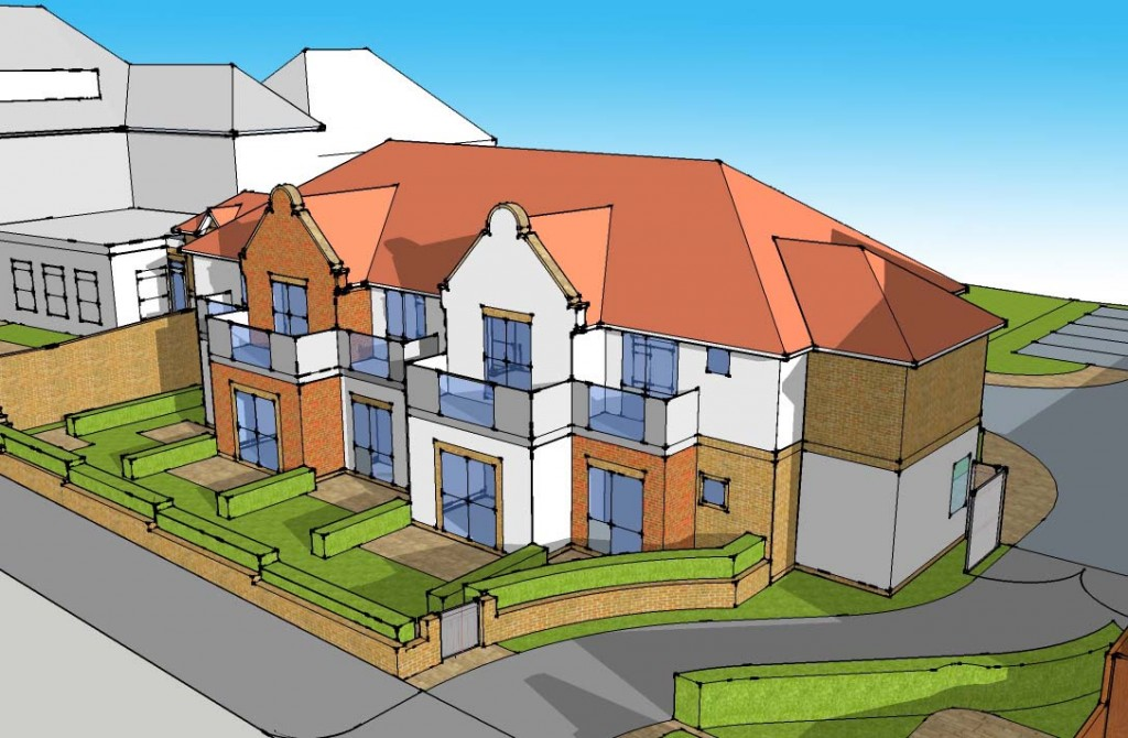 Plans for hotel Hagley Road Edgbaston front view